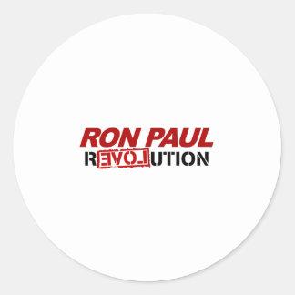 Ron Paul revolution - election president vote Round Sticker