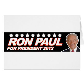Ron Paul USA 2012 - election president vote Greeting Card