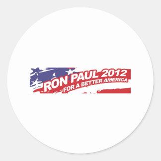 Ron PaulFor 2012 - election president vote Round Sticker