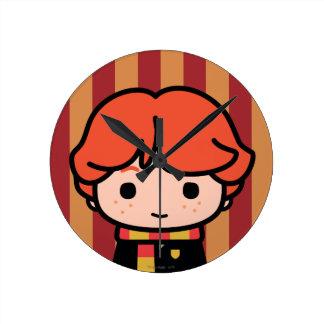 Ron Weasley Cartoon Character Art Round Clock