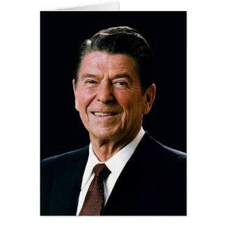Ronald Reagan, 1981 Portrait Card