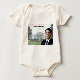 Ronald Reagan Cartoon Baby Bodysuit