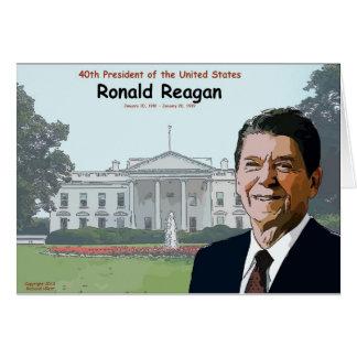 Ronald Reagan Cartoon Card