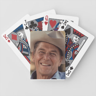 Ronald Reagan in a Cowboy Hat Bicycle Playing Cards