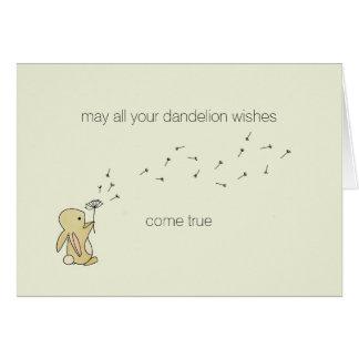 Roo Bunny - Dandelion Wishes Card