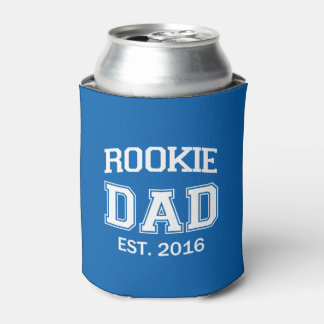 Rookie Dad funny can beer or soda