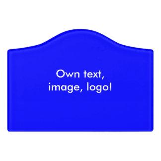 Room Sign uni Royal Blue