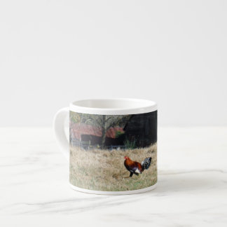 Rooster at the Farm Photo by Sandy Closs. 6 Oz Ceramic Espresso Cup