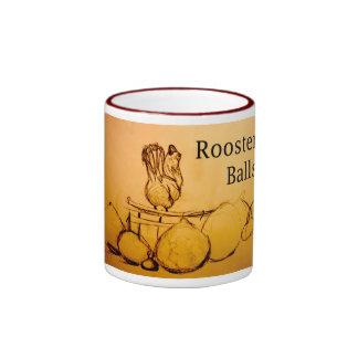 Rooster Balls Ringer Mug