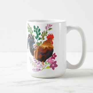 rooster basic white mug