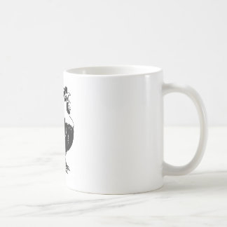 Rooster chicken crowing coffee mugs