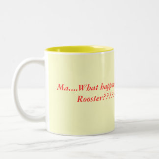 rooster cooks, Two-Tone mug