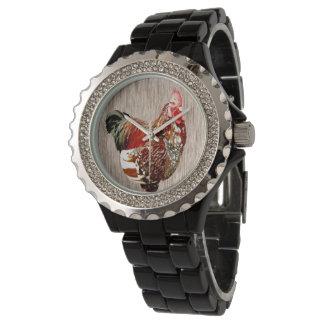 Rooster Extrovert, Rhinestone Watch