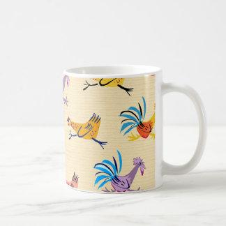 Rooster morning basic white mug