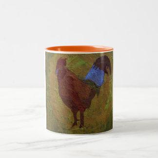 Rooster Two-Tone Coffee Mug