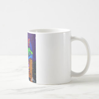 Rooster on Fence by Piliero Coffee Mug