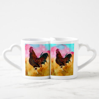Rooster On the Run Lovers Mug
