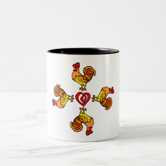 Rooster Pinwheel Coffee Mug