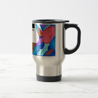 Rooster Saxophone Jamming Stainless Steel Travel Mug