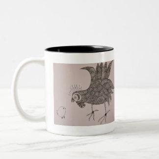 Rooster Talk Two-Tone Coffee Mug