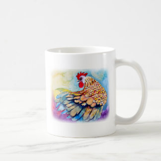 Rooster with Flair Basic White Mug