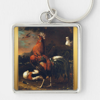 Rooster Year 2017 European painting Keychain