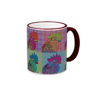 Roosters Gone Psycho Coffee Mug