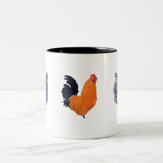 """ Roosters "" Two-Tone Coffee Mug"