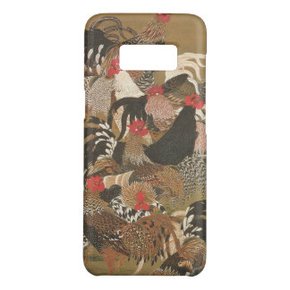 Roosters New Year 2017 Japanese Painting Samsung Case-Mate Samsung Galaxy S8 Case