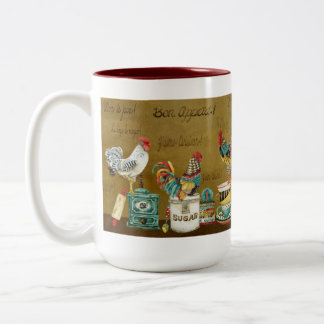 Roosters Whimsy Mug