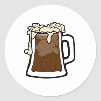Root Beer Classic Round Sticker