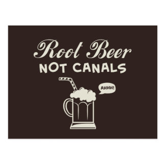 Root Beer Not Canals Postcard