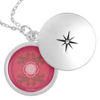 Root Chakra Mandala Silver Plated Necklace