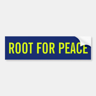 Root For Peace Bumper Sticker