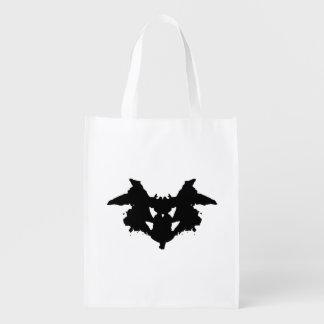 Rorschach Inkblot Reusable Grocery Bag