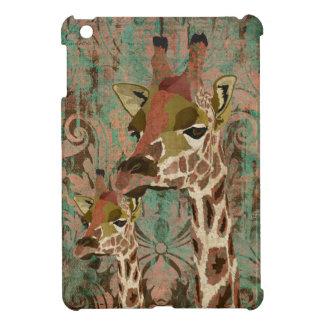 Rosa Giraffes Damask Mini Case iPad Mini Cover