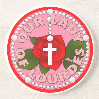 Rosary Our Lady of Lourdes Coaster