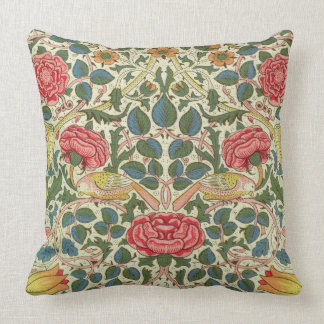 'Rose', 1883 (printed cotton) Throw Pillow