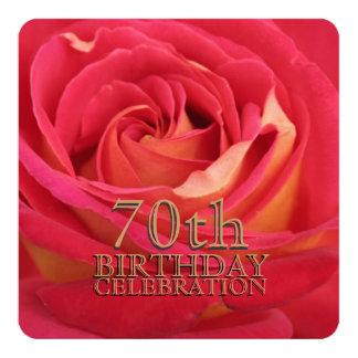 Rose 70th Birthday Celebration Custom Invitation