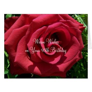 Rose 95th Birthday Big Greeting Card