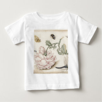Rose and Five Insects Baby T-Shirt