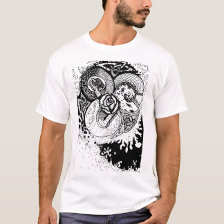 Rose and Knots, B&W T-Shirt