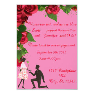 Rose Are Red Engagement Party Invitation