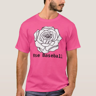 Rose Baseball Pink Shirt