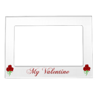 Rose bouquet picture frame magnet