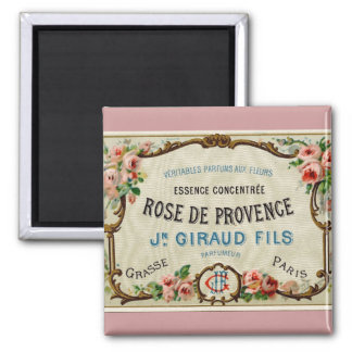 Rose de Provance a French Perfume Square Magnet