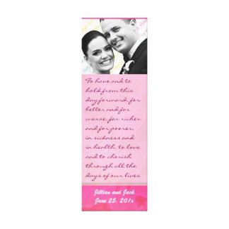 Rose Fantasy WEDDING Vows Keepsake Display Canvas Print