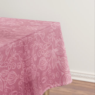 Rose Floral Fabric Texture Tablecloth