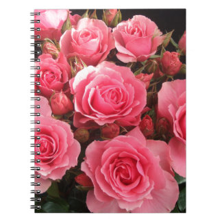 rose flowers flower pink love pink notebook