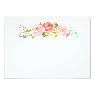 watercolor roses invitations announcements zazzle nz